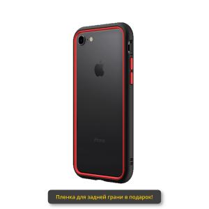 Бампер RhinoShield CrashGuard NX черный с красным для Apple iPhone 7/8