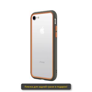 Чехол RhinoShield CrashGuard NX серый с оранжевым для Apple iPhone 7/8
