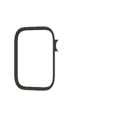 Черная рамка для чехла RhinoShield для часов Apple Watch 38-40 мм 1/2/3/4 series