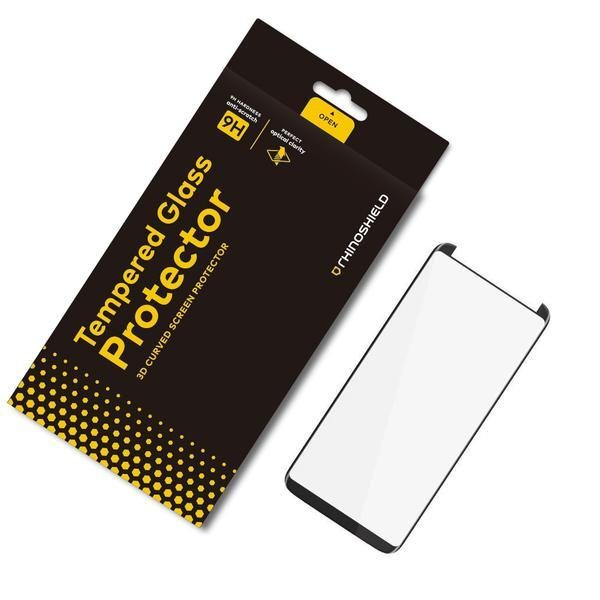 Защитное стекло RhinoShield Tempered Glass закрывает экран для Galaxy S8