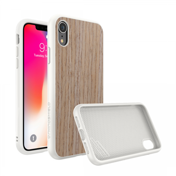 Чехол-накладка RhinoShield SolidSuit деревянный (светлый орех) для Apple iPhone Xr