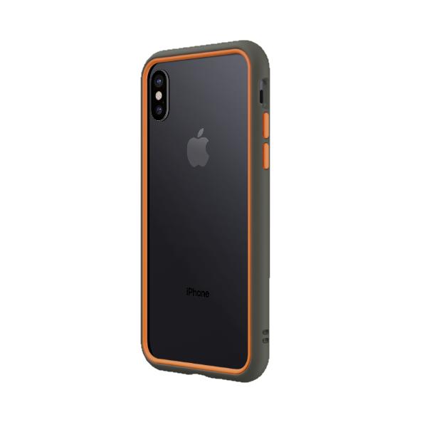 Чехол-бампер RhinoShield CrashGuard NX серый с оранжевым для Apple iPhone X/Xs