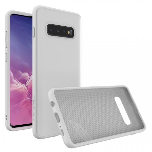 Чехол RhinoShield SolidSuit белый для Samsung Galaxy S10+