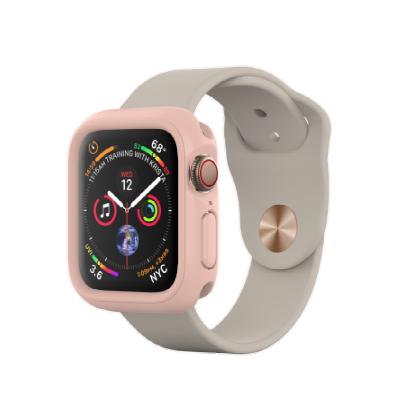 Защитный чехол RhinoShield розовый для часов Apple Watch 40 мм 4/5/6 series