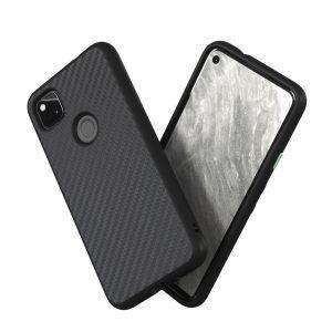 Чехол-накладка RhinoShield SolidSuit черный карбон для Google Pixel 4a (4G)