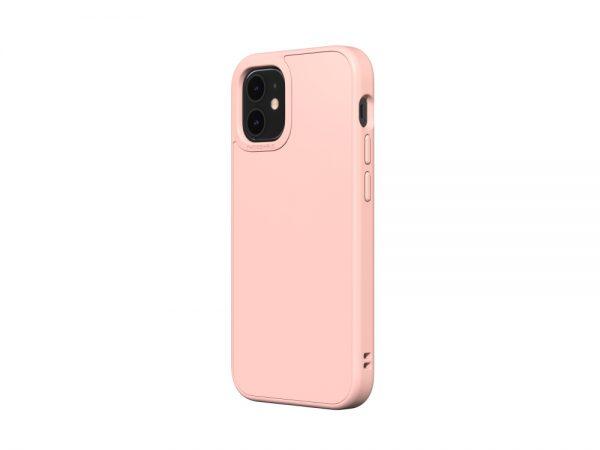 Чехол-накладка RhinoShield  бледно-розовый для Apple iPhone 12 mini с защитой от падений с 3.5 м