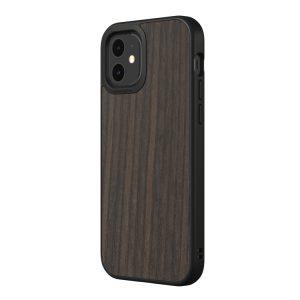 Чехол-накладка RhinoShield SolidSuit деревянный (черный дуб) для Apple iPhone 12/12 Pro