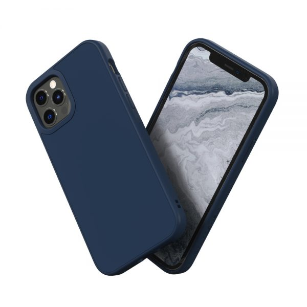 Чехол-накладка RhinoShield SolidSuit темно-синий для Apple iPhone 12/12 Pro