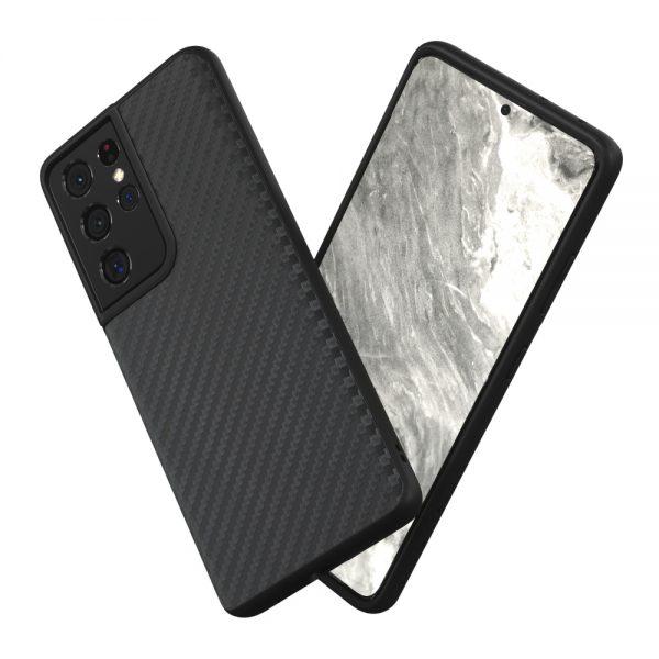 Чехол-накладка RhinoShield SolidSuit карбон для Samsung Galaxy S21 Ultra