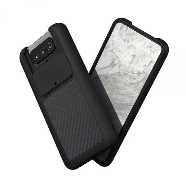 Чехол-накладка RhinoShield  черный для Asus Zenfone 8 flip с защитой от падений с 3.5 м